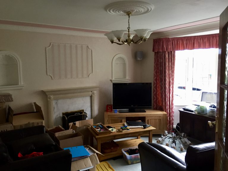 Modernising my dated living room - before image