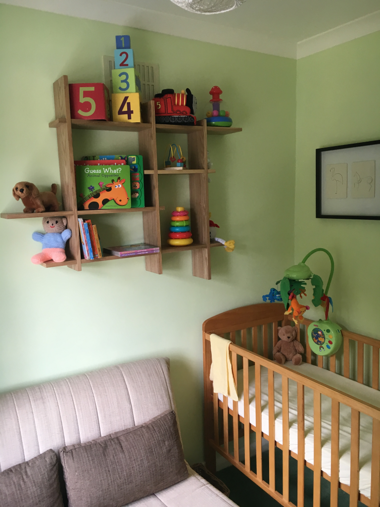A Neutral Nursery for Sleeping Babies - before image