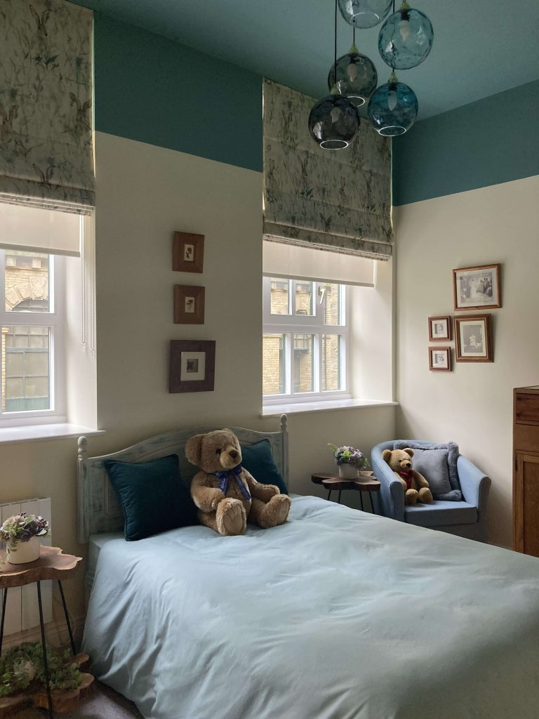 Tall Ceilings Make Great Features: A Converted Mill Bedroom - after image